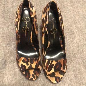 Jessica Simpson Leopard Heels